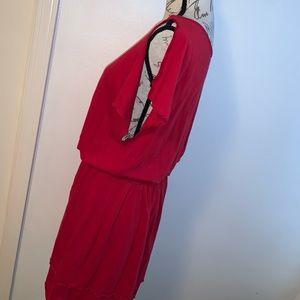 Express Dresses - Express Slit Arm Midi Dress